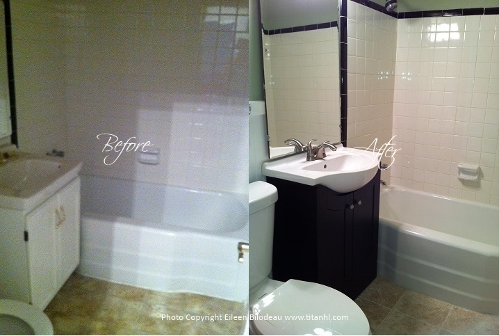 Eileen Guest Bath Before and After